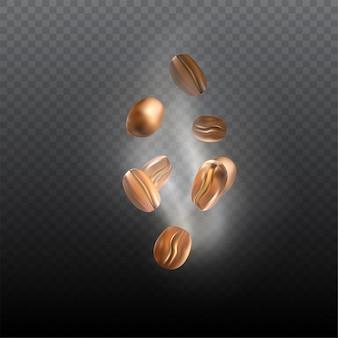 落下現実的なローストコーヒー豆
