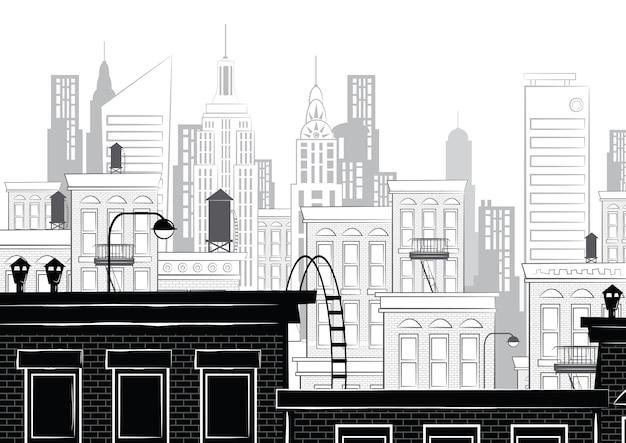 Иллюстрация эскиза нью-йорка