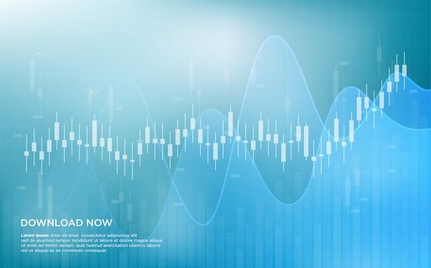 Торговая предпосылка с прозрачными белыми иллюстрациями диаграммы в виде вертикальных полос.