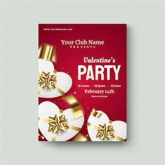 День святого валентина постер с белыми подарочные коробки любви на темно-красном