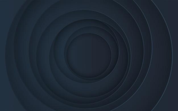 影付きの抽象的な積み上げ円。