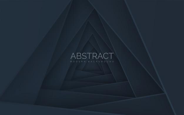 影付きの抽象的な三角形スタック。
