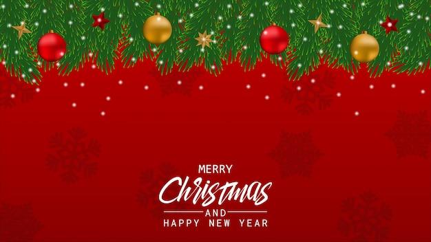 背景のメリークリスマスと新年あけましておめでとうございます。