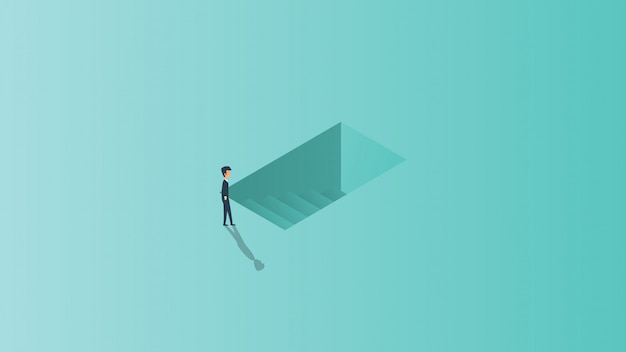 Возможность карьерного роста начиная выходить ключевая иллюстрация концепции дела.