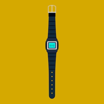 Наручные часы вектор значок изолированные
