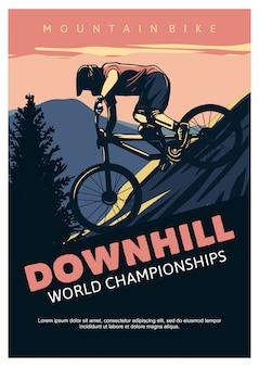 Шаблон плаката чемпионата мира по скоростному спуску