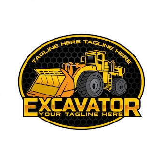 Экскаватор дизайн логотипа