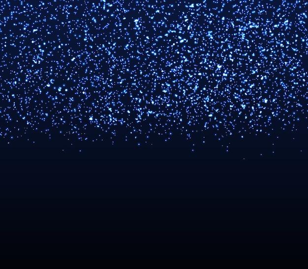 Блеск текстуры. падающие частицы. синие огни.
