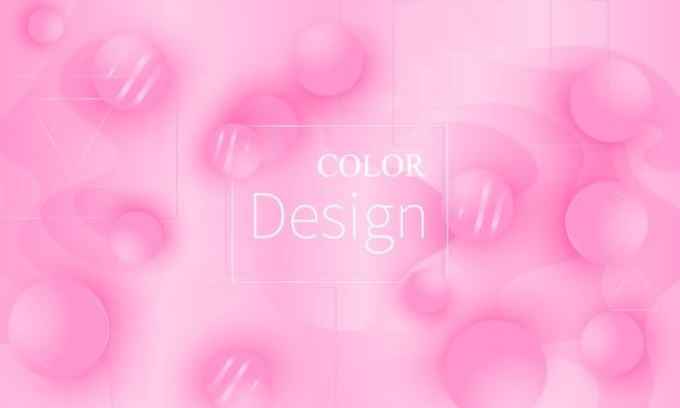ピンク 。流体の形状。図。
