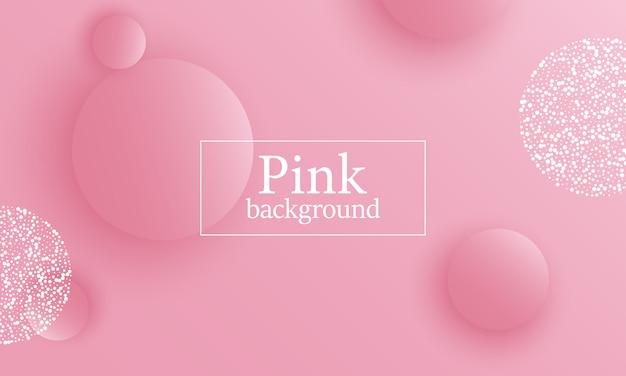 ピンクの背景。