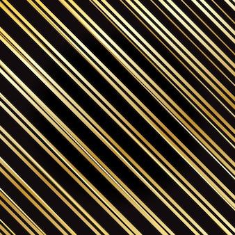 ラッピングストライプパターン。ゴールドの縞模様の背景。