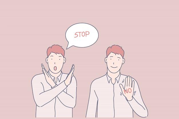 Иллюстрация жеста запрета