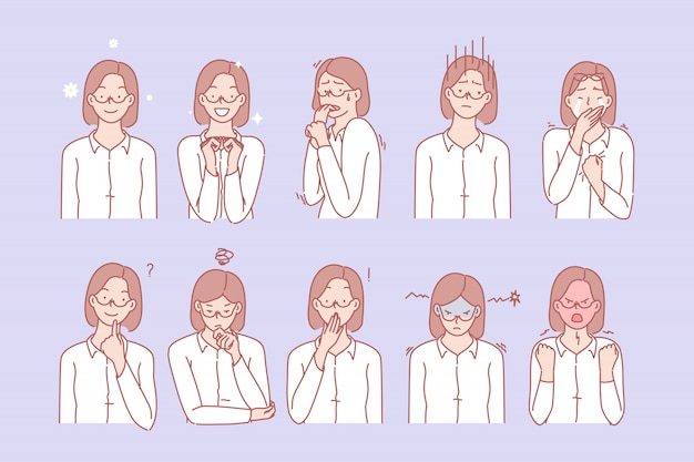 梨花の感情と表情