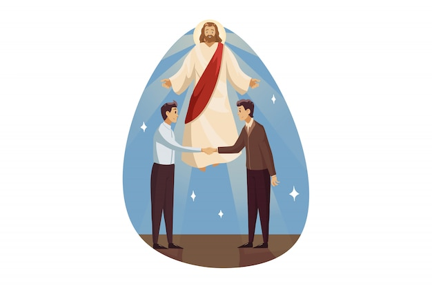 宗教、祝福、サポート、ビジネス、キリスト教、会議のコンセプト