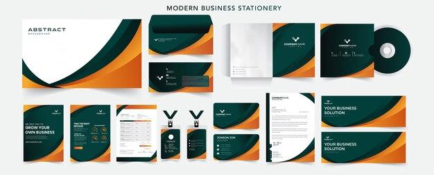 Корпоративный бизнес профессиональный брендинг фирменный набор канцелярских принадлежностей