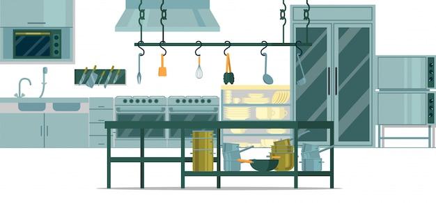 調理用のプロ仕様のキッチン。