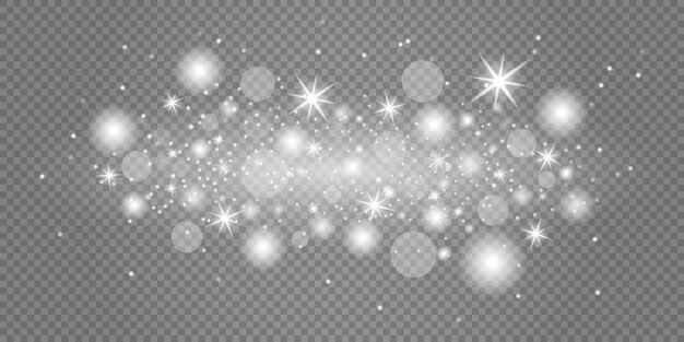 妖精の塵の輝く粒子。