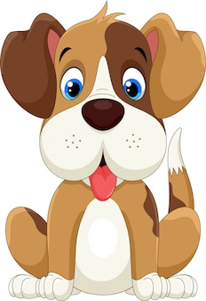 Милый маленький мультфильм собака