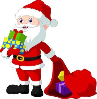 Дед мороз и рождественские подарки