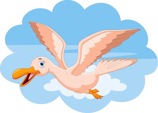 Счастливая летящая птица