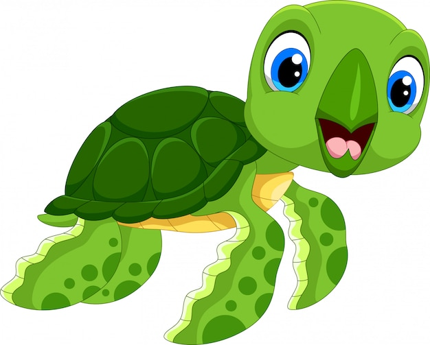 Милый мультфильм черепаха
