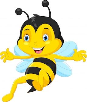 飛んでかわいいミツバチ漫画
