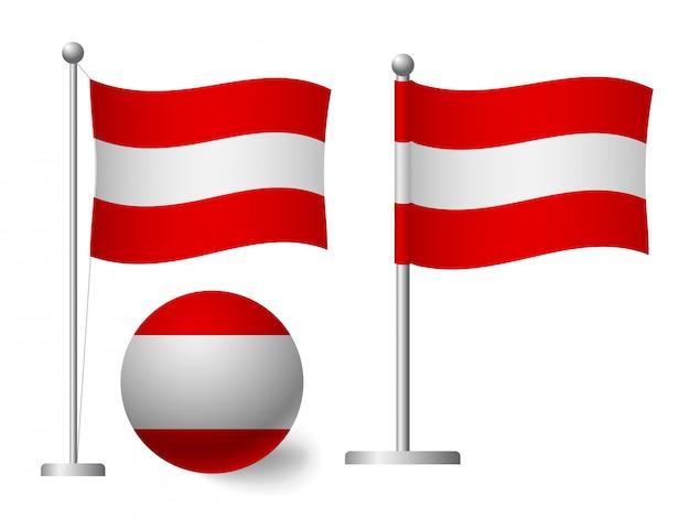 ポールとボールのアイコンにオーストリアの国旗