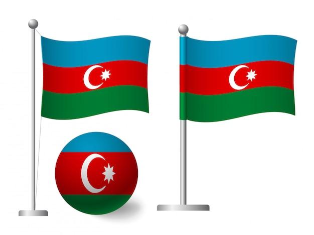 ポールとボールのアイコンにアゼルバイジャンの旗