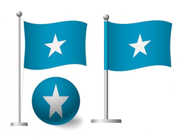 ポールとボールのアイコンにソマリアの旗