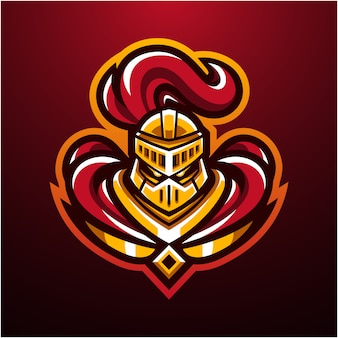 Логотип талисмана головы рыцаря