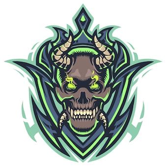 悪魔の頭のマスコットロゴ