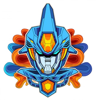 ロボットヘッドマスコット
