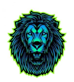 Логотип талисмана головы льва