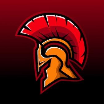 Логотип талисмана спартанской головы