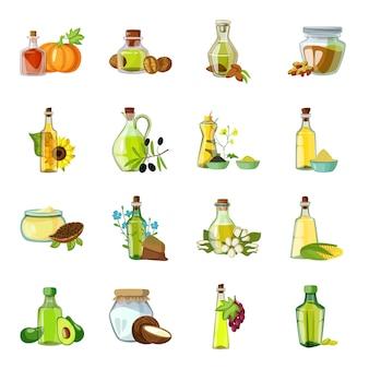 Нефтяной мультипликационный элемент. масляная бутылка векторные иллюстрации.