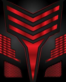 Абстрактное направление линии на шестиугольник сетки дизайн современный роскошный футуристический фон