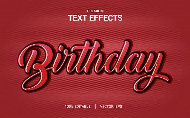 エレガントなピンク紫赤抽象的な誕生日テキストスタイル編集可能なフォント効果を設定します