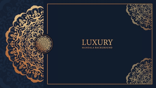 Роскошный декоративный фон арабески мандалы