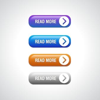 Абстрактные кнопки подробнее для использования в веб-сайте, пользовательском интерфейсе, приложении и игровом интерфейсе. современные веб-элементы.