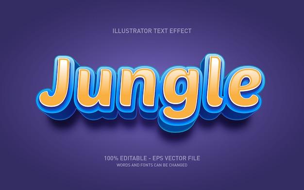 Редактируемый текстовый эффект - стиль игры джунглей