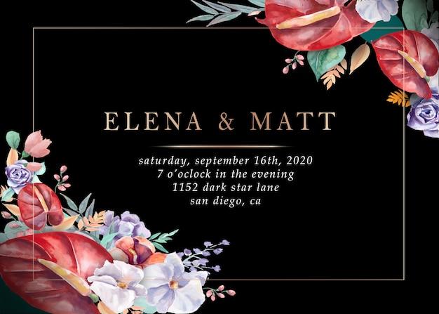 結婚式招待状。