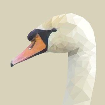 Лицо утки с геометрическим дизайном