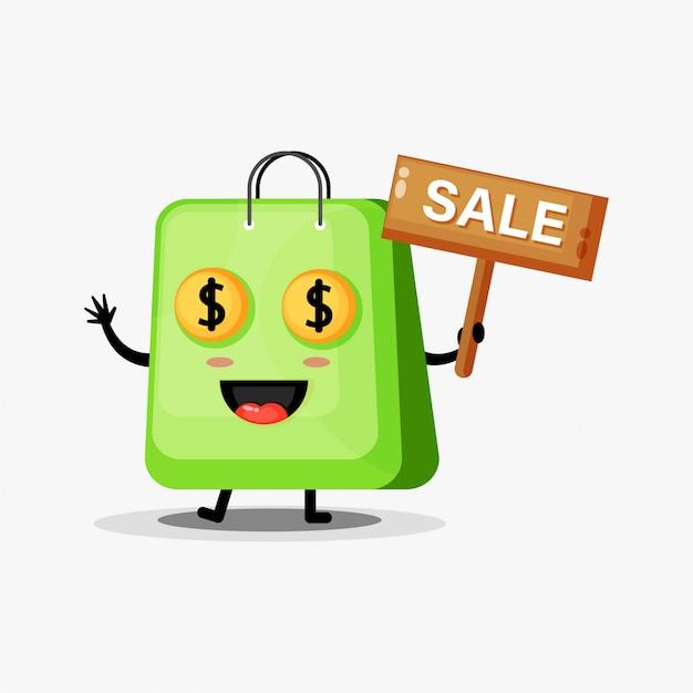 Симпатичная сумка-талисман со знаком продаж
