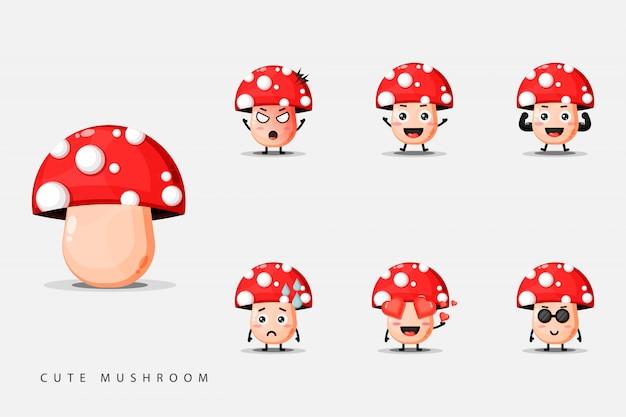 Набор милых грибных талисманов