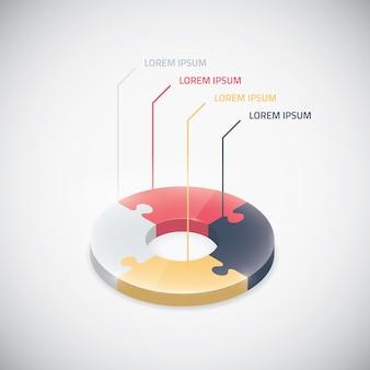 Инфографика головоломки кусок вектор головоломки бизнес-круг элемент