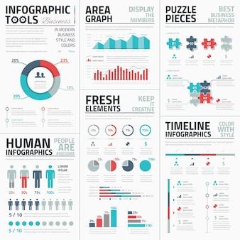 ビジネスインフォグラフィック要素ベクトル図