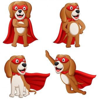 Супергерой собака мультфильм. иллюстрация