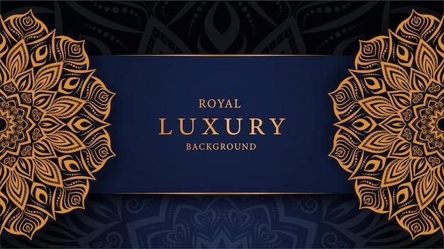 Роскошный фон мандалы с причудливым золотым орнаментальным стилем