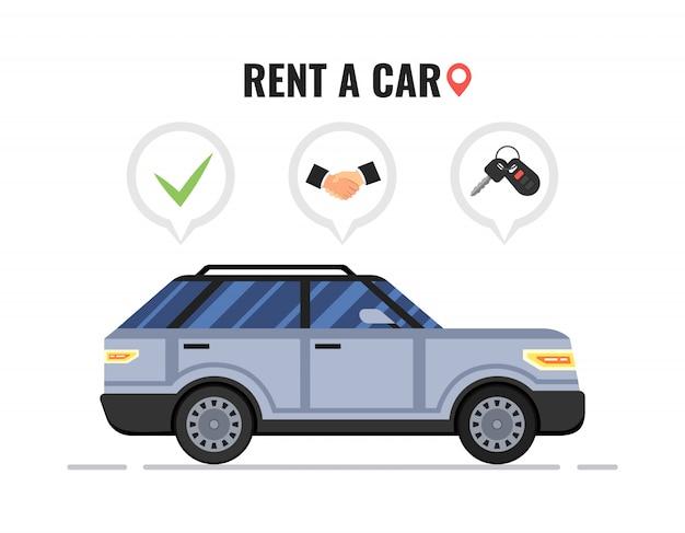 Концепция аренды автомобиля