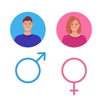 Мужчина и женщина, джентльмен и леди туалет знак
